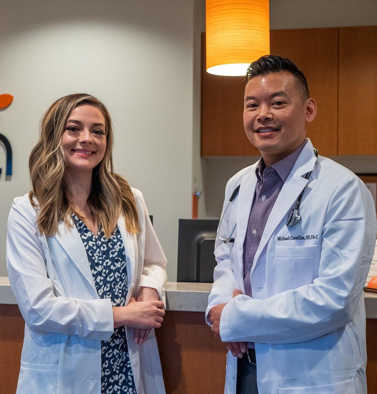 Dr Kalea Wattles and Dr Michael Corsilles